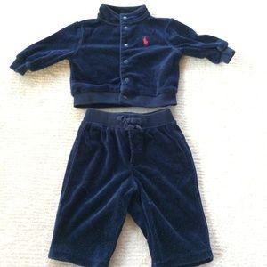 Ralph Lauren Baby Boy Tracksuit Jacket Pant Set